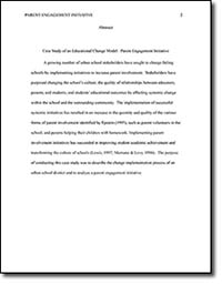 Case Study of an Educational Change Model:  Parent Engagement Initiative page 2